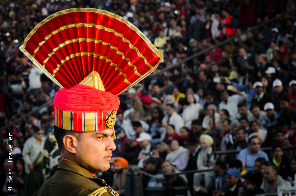 Wagah Border Ceremony BSF officer