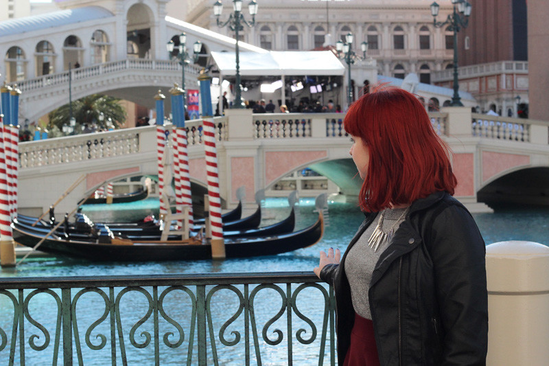 Outside The Venetian in Las Vegas