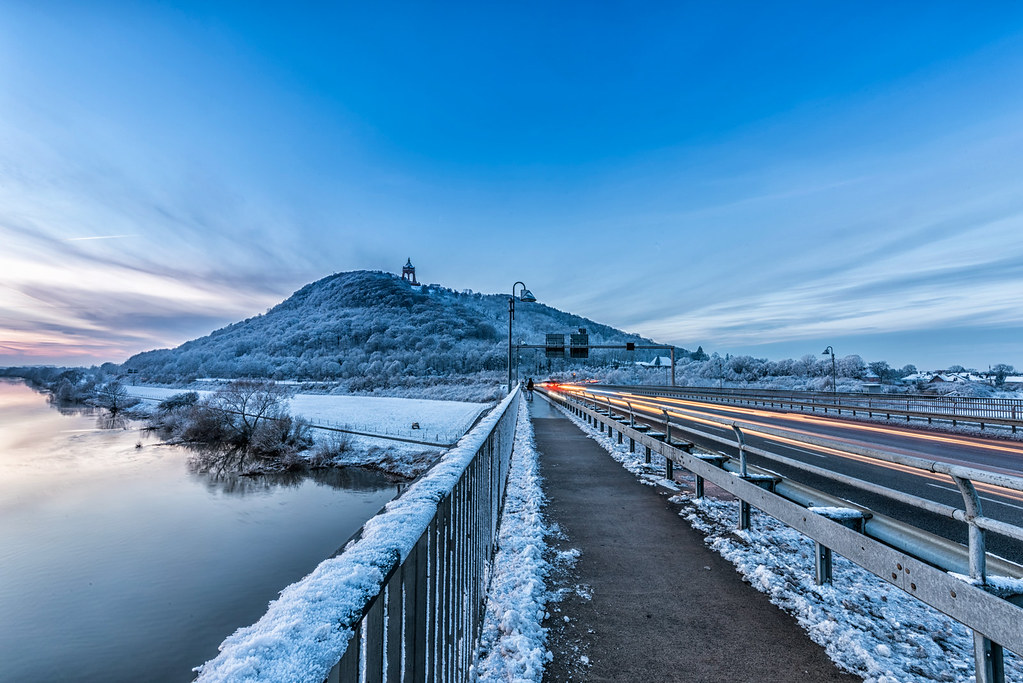 Winter in Porta Westfalica