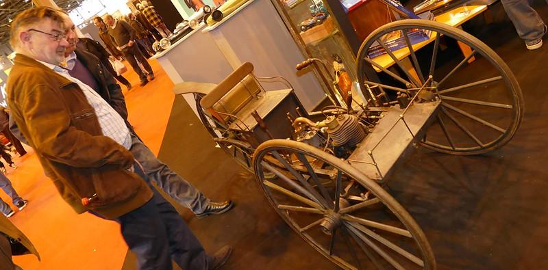 Tricyclecar Eugène PESQUET voiturette 1892 - Retromobile Paris 2016 24893460385_3c0fcbc27c_c