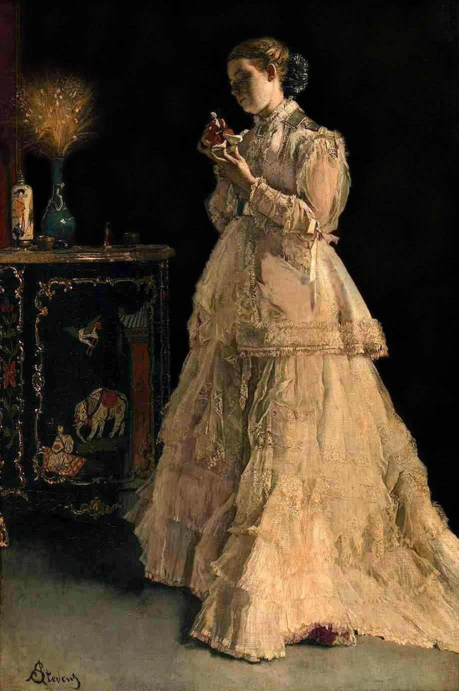The Lady in Pink by Alfred Stevens, 1867