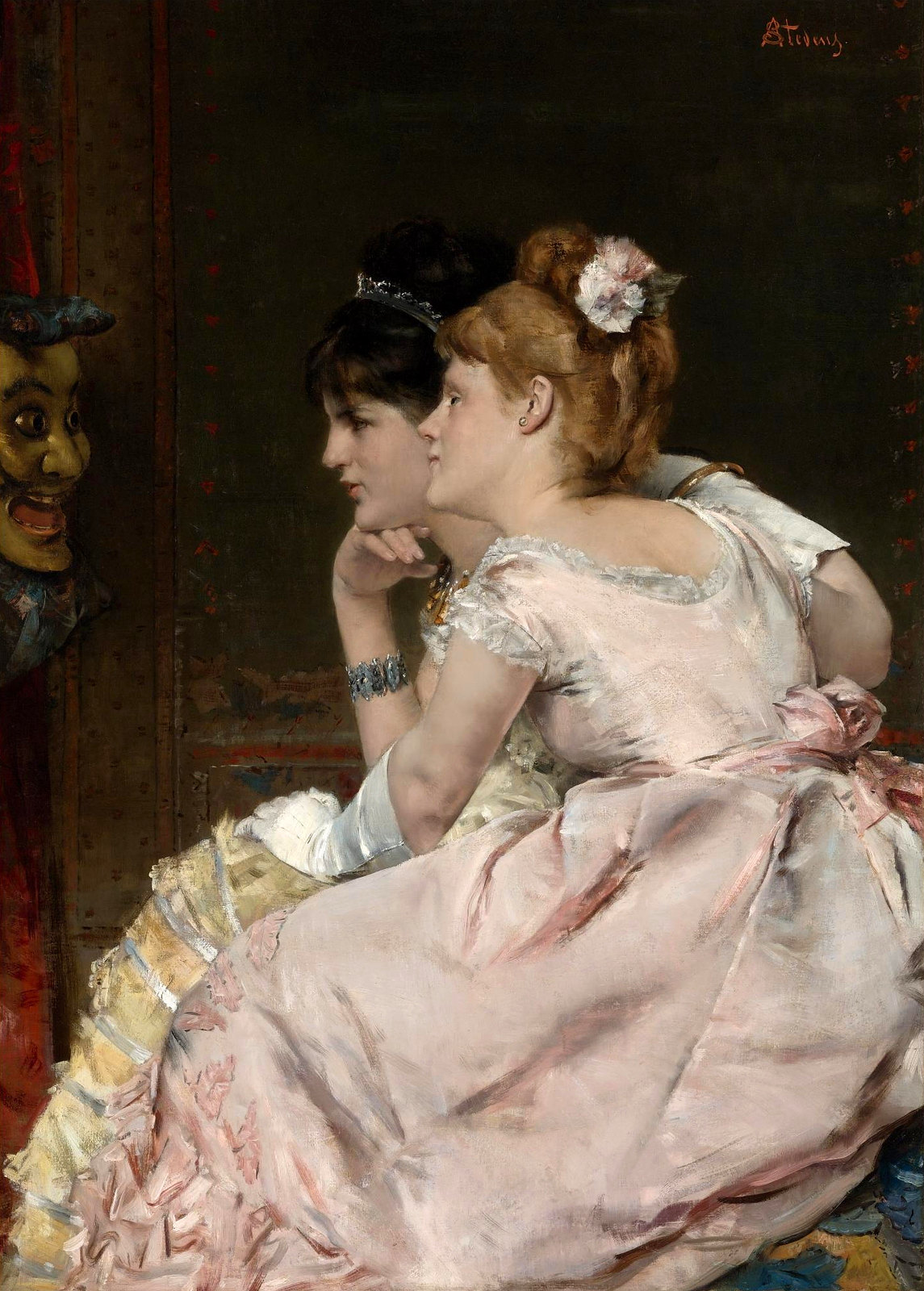 The Japanese Mask by Alfred Stevens, 1877