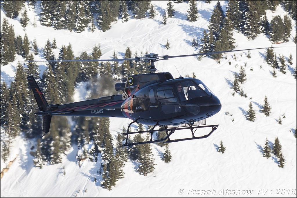 Aérospatiale AS-350 B3 Ecureuil - F-HAUF Azur Hélicoptère SARL , Salon Hélicoptère à Courchevel 2016, Meeting Aerien 2016