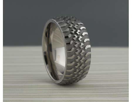 truck tire wedding ring truck tire in titanium wedding