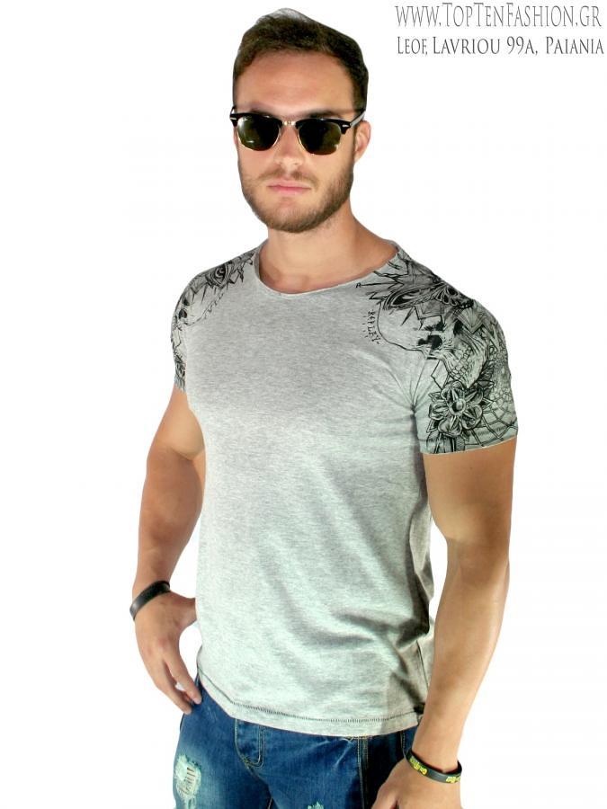5dbd3737216a REPLAY Ανδρική κοντομάνικη slim fit μπλούζα