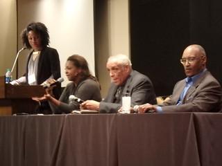 Virginia moderates the panel