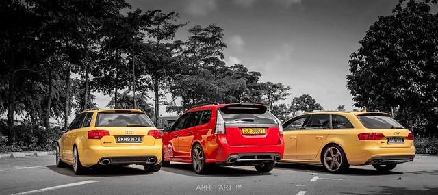Saab 9-3 TX Sportcmbi vs Audi RS4 & S4 Avant