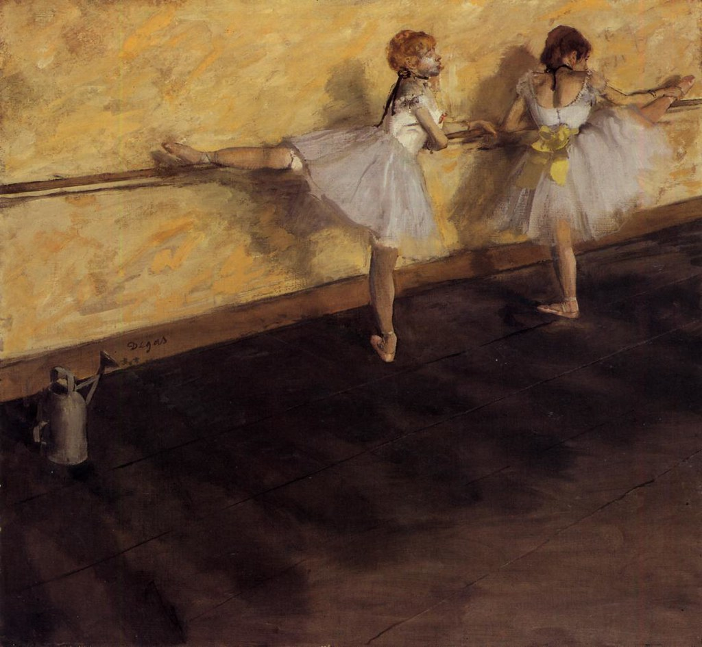 Dancers Practicing at the Bar by Edgar Degas, 1877