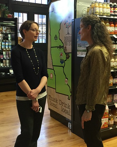 Acting Administrator Elanor Starmer at Dubuque Food Co-op