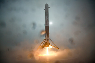 First stage of Falcon 9 rocket | by Official SpaceX Photos