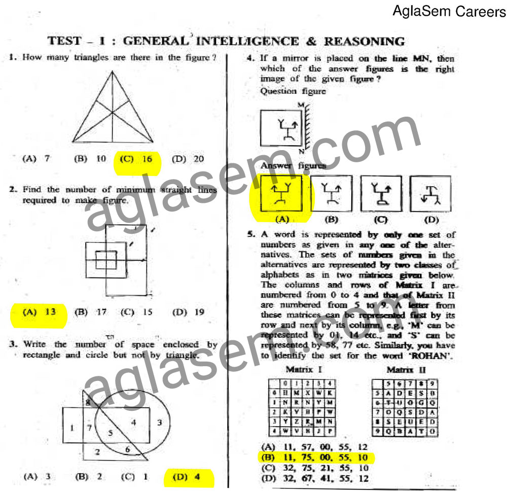 SSC JE 2015 Answer Key of 31 January 2016 Exam Electrical Engineering