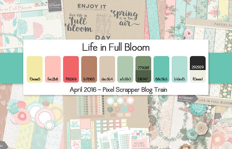 Pixel Scrapper April 2016 Blog Train