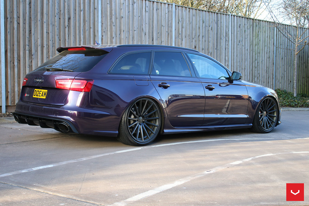 Audi Rs6 Vfs 2 Custom Black 169 Vossen Wheels 2016 1
