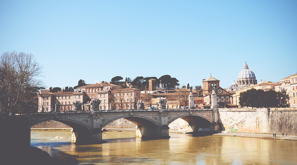 Bridge of Angels, Rome | via It's Travel O'Clock