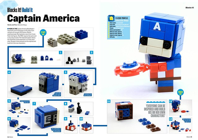 Captain America Blockhead BLOCKS