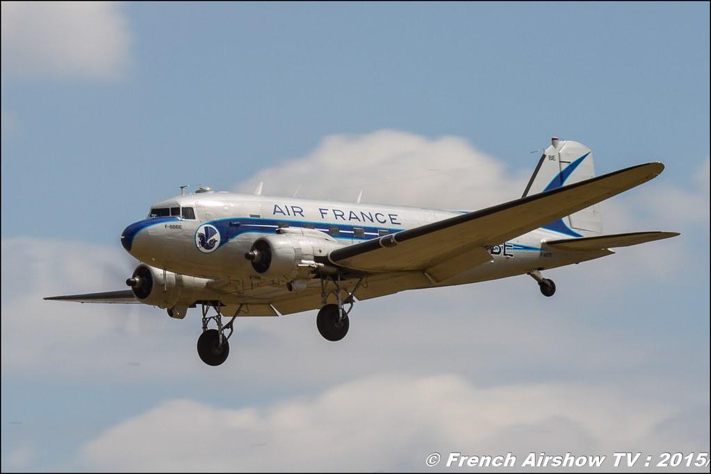 DC3 Airfrance, Paris Airshow 2015 , Salon du Bourget 2015 ,lebourget, Meeting Aerien 2015