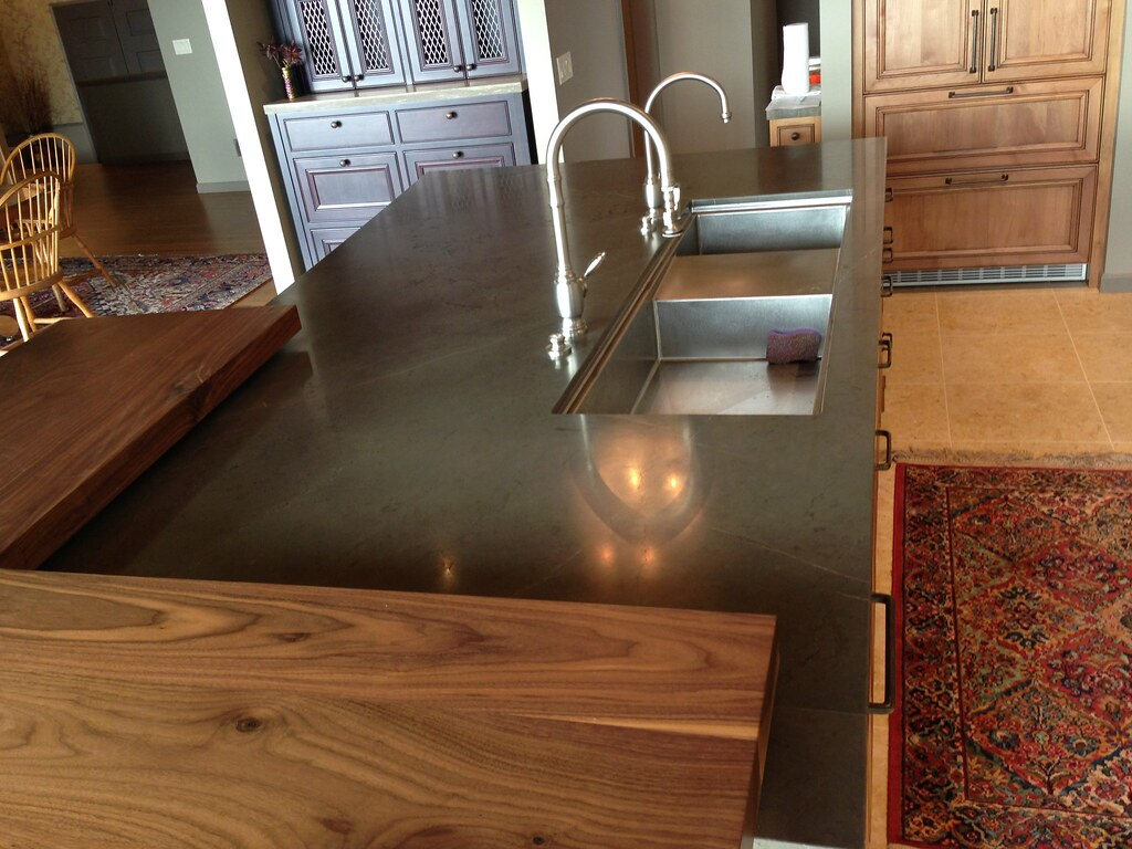 Brown Marble Kitchen Countertops