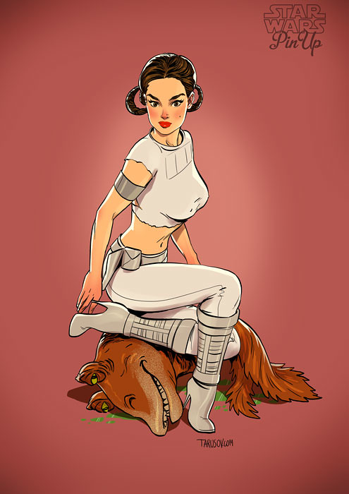 Star Wars pin-up Padmé Amidala by Andrew Tarusov