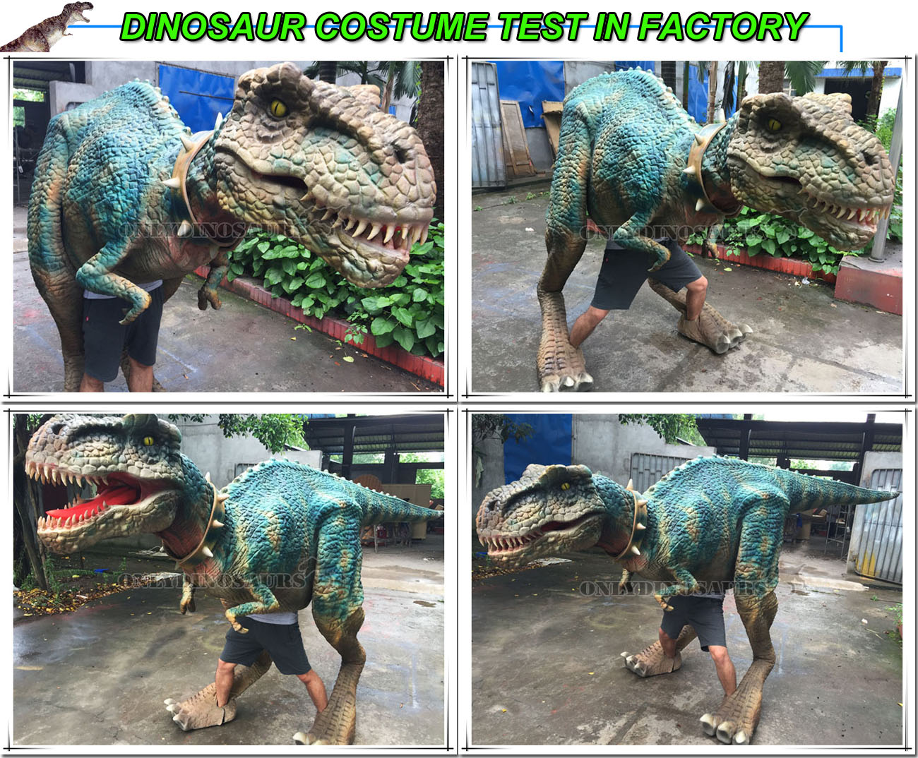 T-Rex Costume Test in Factory