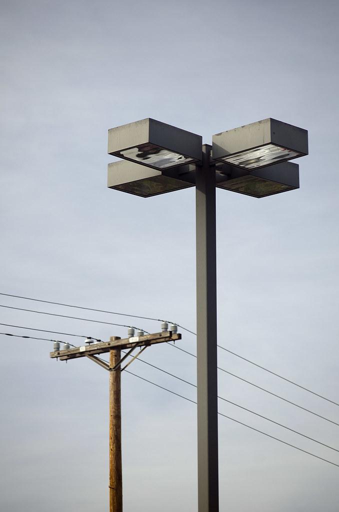 parking lot light and power pole theron trowbridge flickr. Black Bedroom Furniture Sets. Home Design Ideas