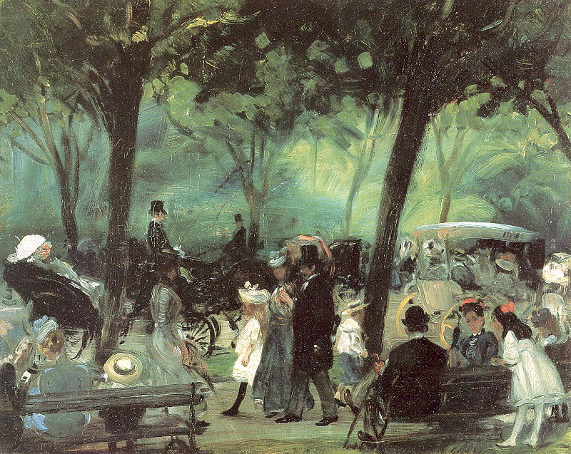 The Drive, Central Park by William James Glackens, 1905