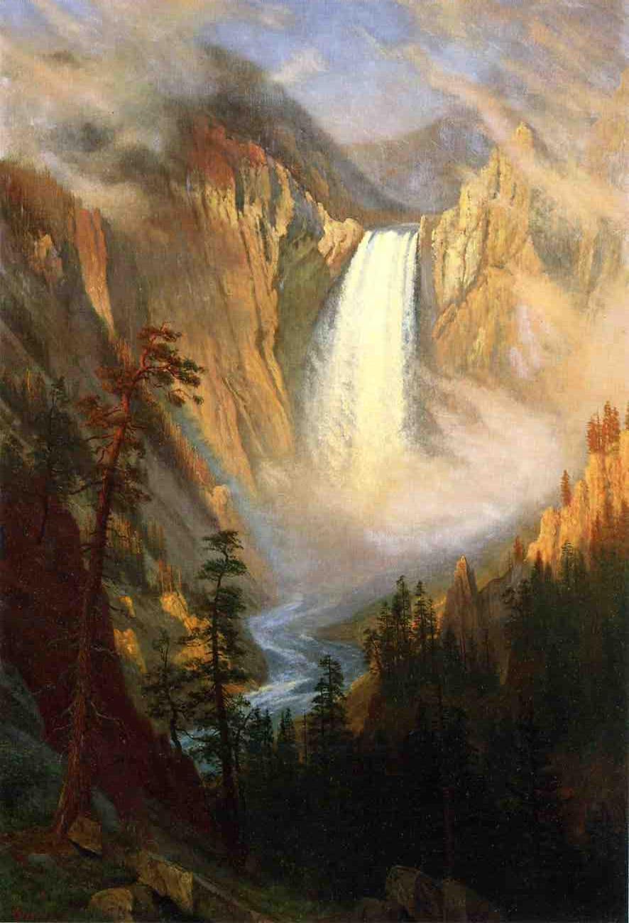 Yellowstone Falls by Albert Bierstadt, 1881