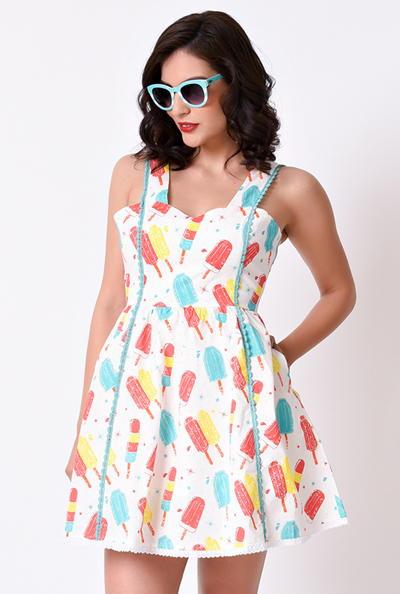 sourpuss popsicle dress unique vintage