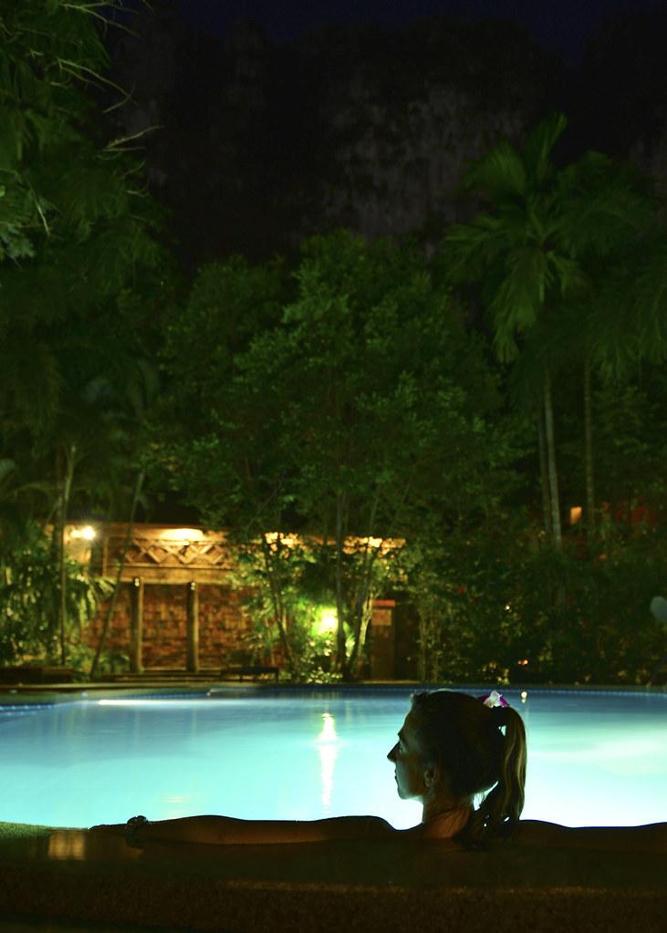 Piscina de nuestro hotel en Tailandia