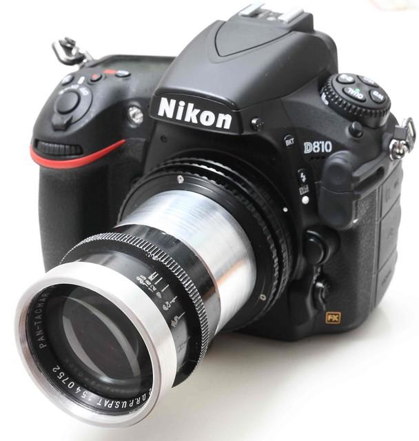 ASTRO-BERLIN Pan-Tachar 100mm f/2.3(改Nikon) 德國35mm大電影鏡 罕有高線數白玻璃