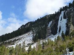 Eisfall am Ausgang des Achentals