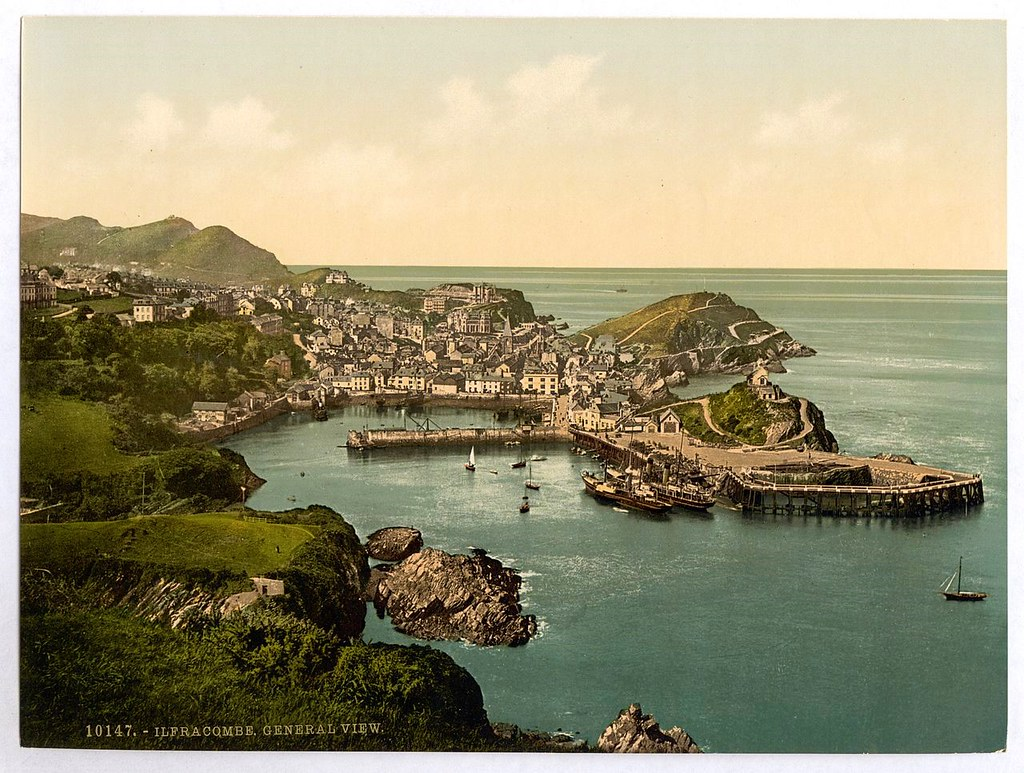 Town and hotels from Capstone, Ilfracombe, Devon