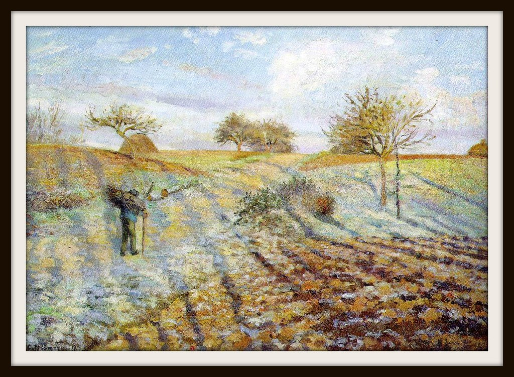 Gelee blanche (Hoarfrost) by Camille Pissarro, 1873