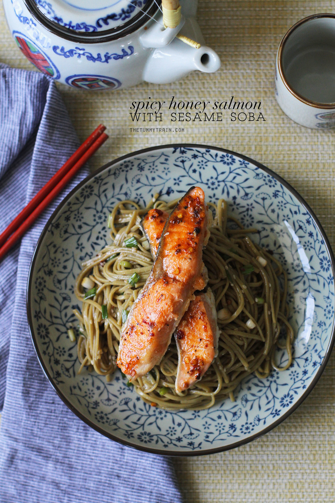 25097370184 7018c0aa46 h - My favourite Sesame Soba topped with sweet-spicy salmon