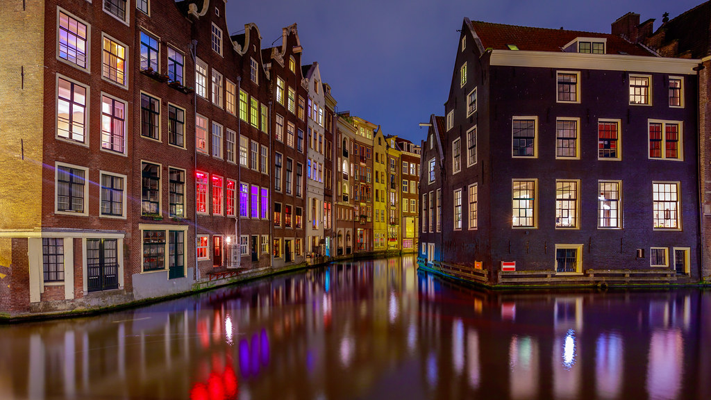 amsterdam at the north end of the red light district in. Black Bedroom Furniture Sets. Home Design Ideas