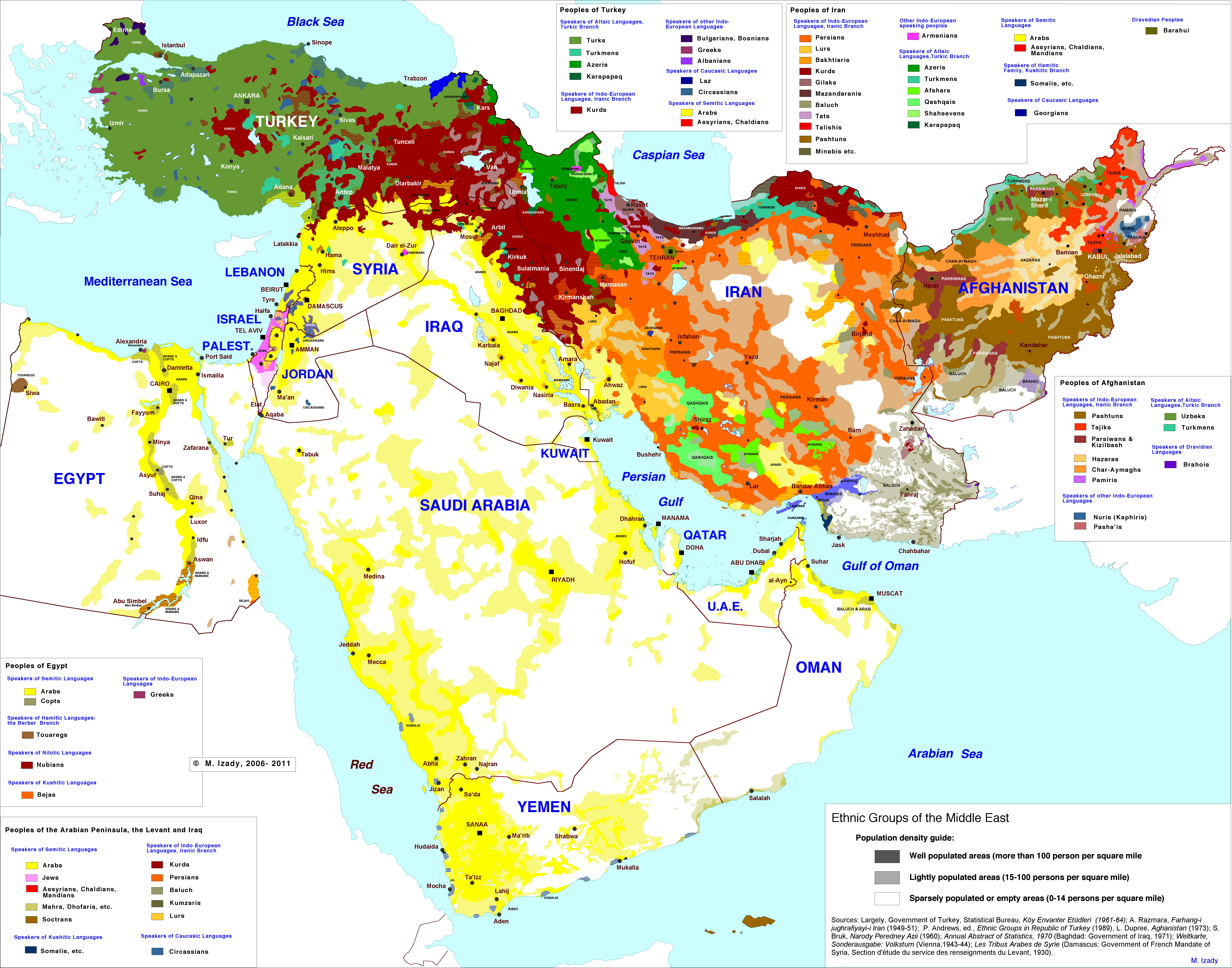 Ethnic groups of the Middle East  Vivid Maps