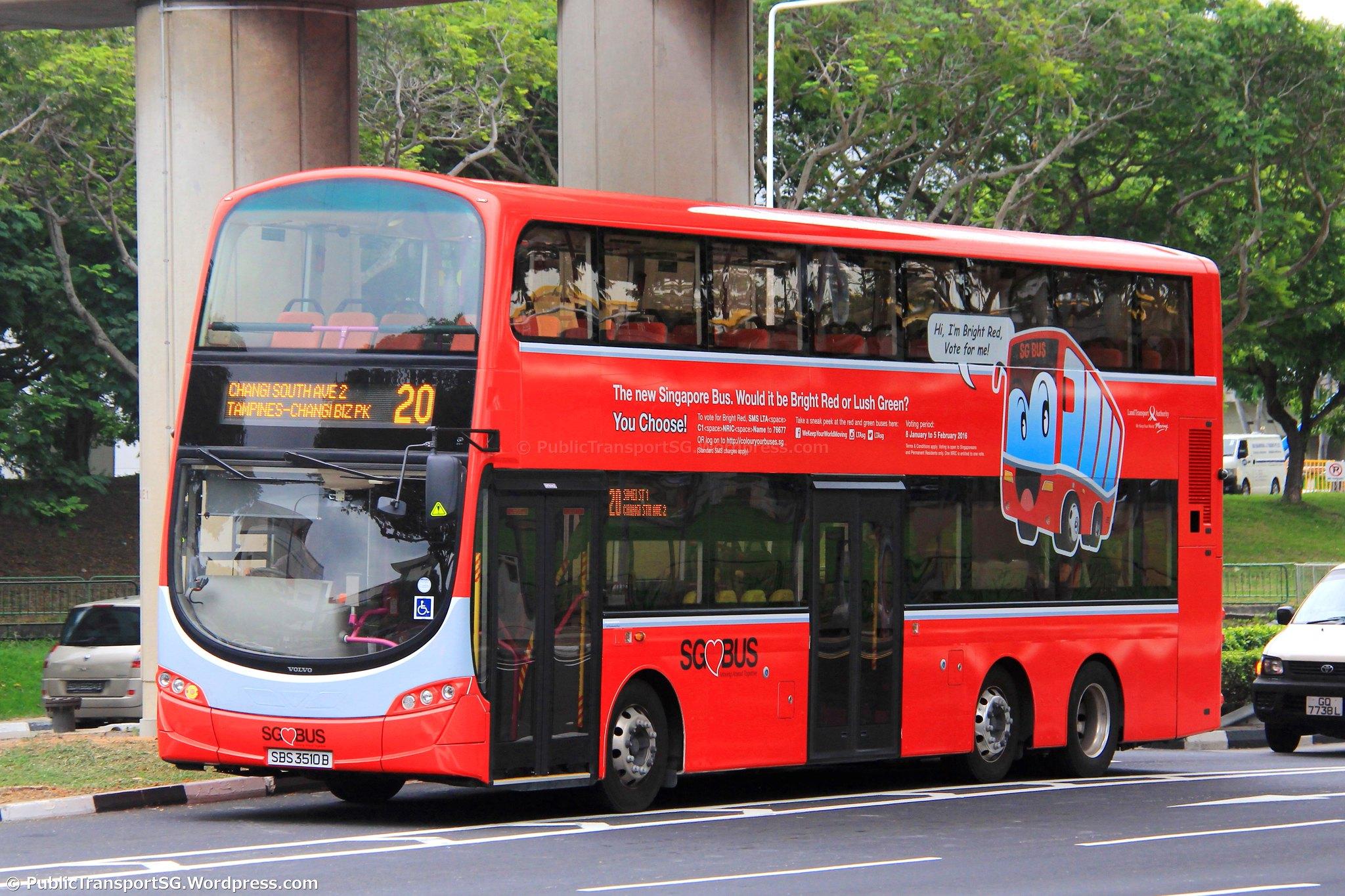 Sbs Transit Bus Service 20 Public Transport Sg