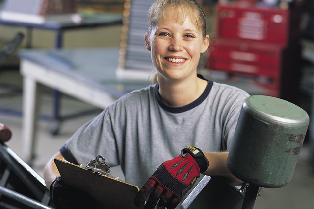 Photo of a female construction worker