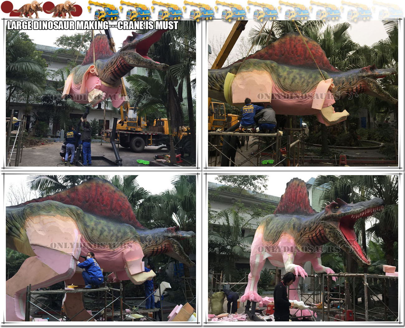 Crane for Large Dinosaur Making