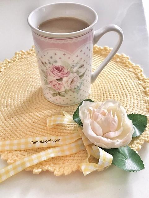çiçekli örgü supla