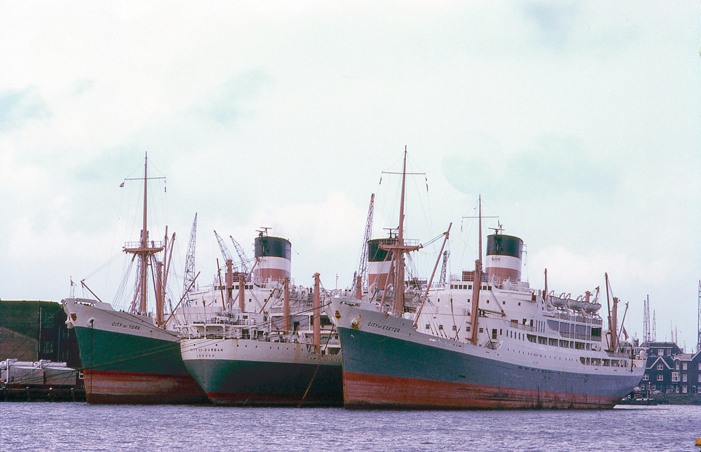 Ic Free Shipping >> City Boats, berthed in Port of Amsterdam, ca 1970 ...