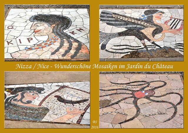 Nizza Nice Jardin Parc Colline du Château Mosaik Mosaikkunst Mosaiken Kunst Foto Brigitte Stolle 2016