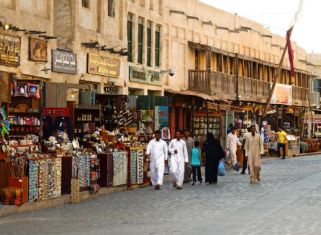 Calles del zoco viejo de Doha