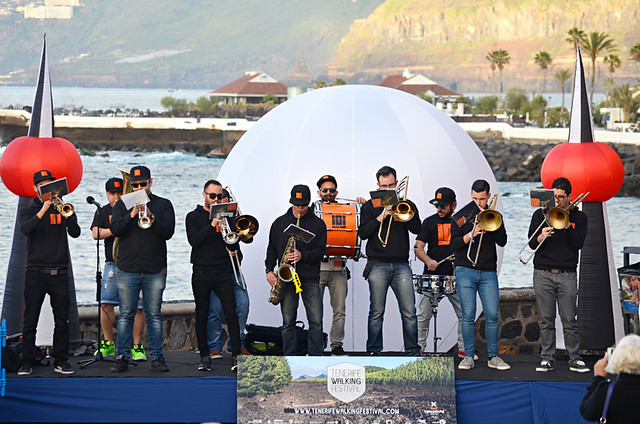 101 Brass Band, Tenerife Walking Festival, Puerto de la Cruz, Tenerife