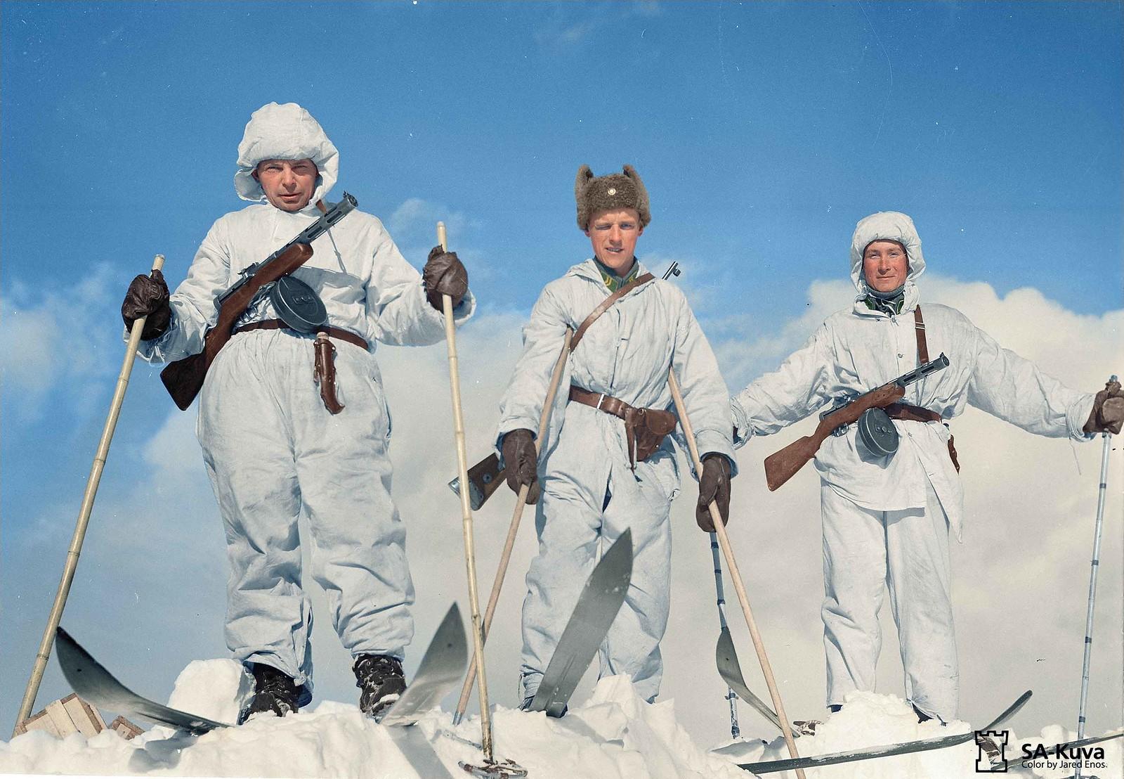 Finnish Ski Troops Crest A Hazardous Nordic Mountain
