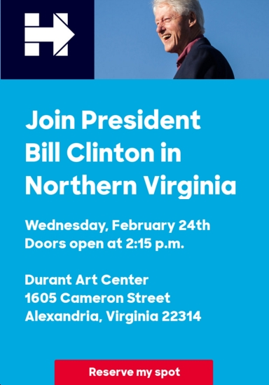 Bill Clinton in Alexandria, Virginia