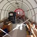 Interior view of the drill tent as being left for the winter