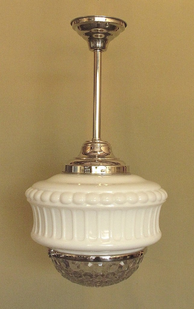 Vintage Schoolhouse Lighting Fixture These Are 1920s