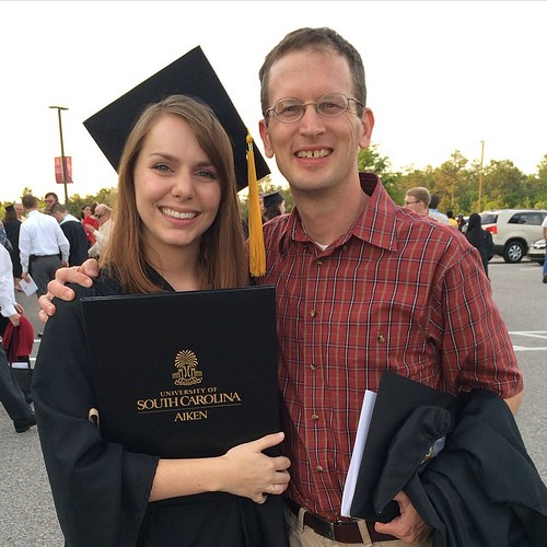 A photo of Autumn and her undergrad mentor Dr. Hancock.