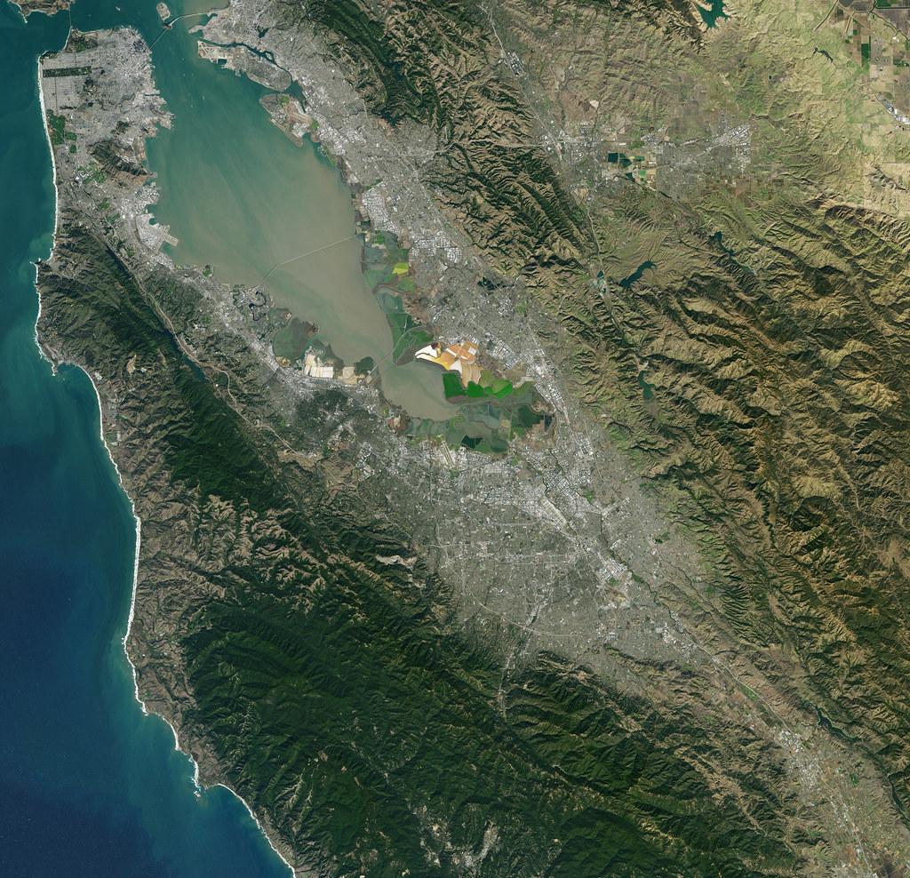 Nasa Satellite Captures Super Bowl Cities Santa Clara C
