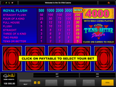 Tens or Better - Flash Poker